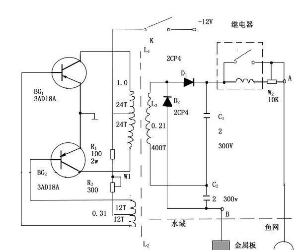 小型电子捕鱼器的制作电路图
