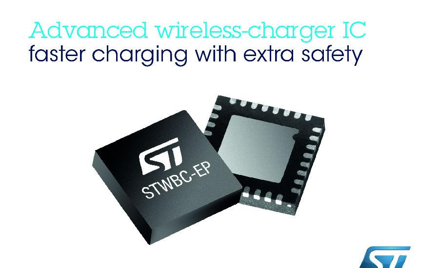 ST's STWLC33 Inductive Power Receiver Delivers 15W Qi and AirFuel Wireless Charging