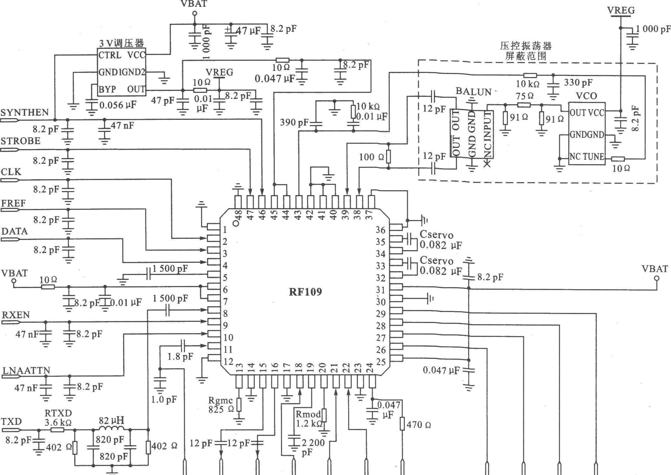 可将电路复杂程度和成本降到最低的数字扩频收发器RF109
