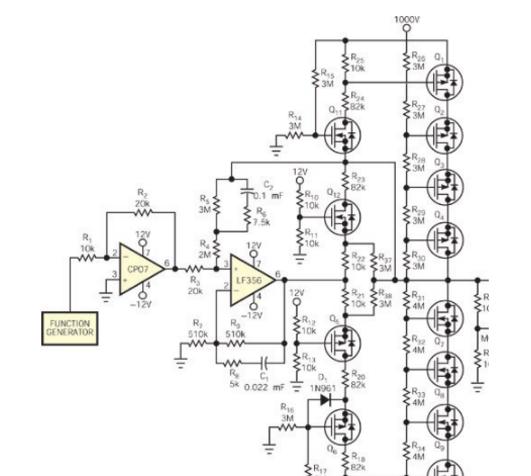 高压驱动器/共射极/LT1112运算放大器电路/简单电压放大器电路图大全