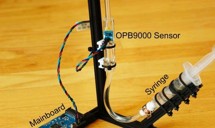 基于OPB9000非接触式反射传感器的测试案例