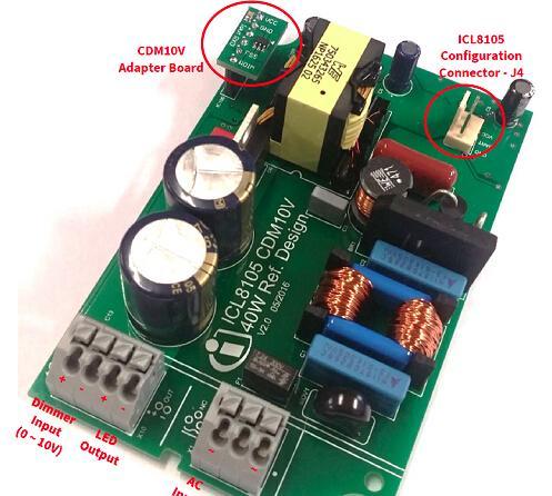 基于Infineon公司的ICL8105+CDM10V 40W数字配置LED驱动方案