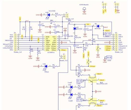 ATA663254:汽车LIN网络解决方案