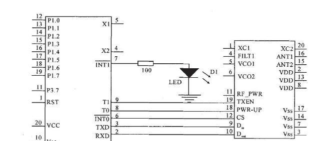 基于nRF401与AT89C2051的无线病房呼叫系统连接器电路设计方案