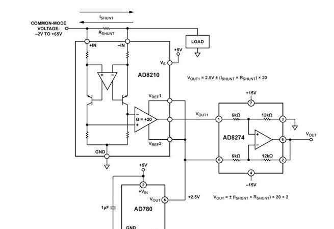 AD780+AD8210+AD8274的超高精度电平转换电路图