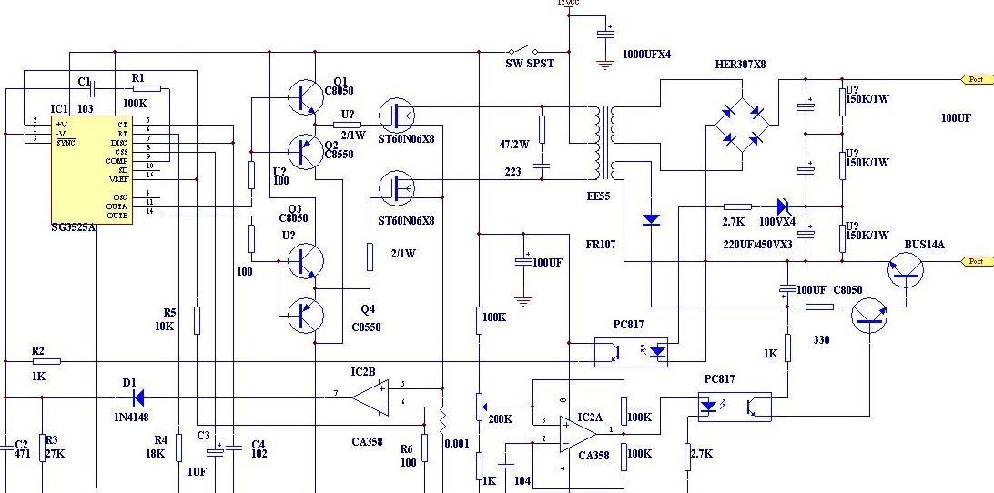 SG3525A芯片的电鱼机电路原理图