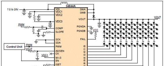 Freescale MC34844 10路LED电视背光驱动解决方案