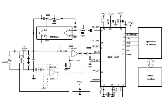 On Semi AMIS-49587动力线载波调制解调方案