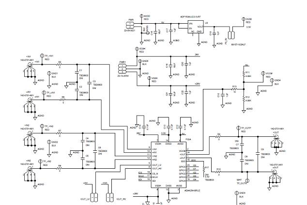 ADI ADA4254 高压低功耗可编增益仪表放大器解决方案
