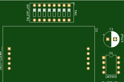 LM3909闪烁指示灯电路方案设计(电路图)