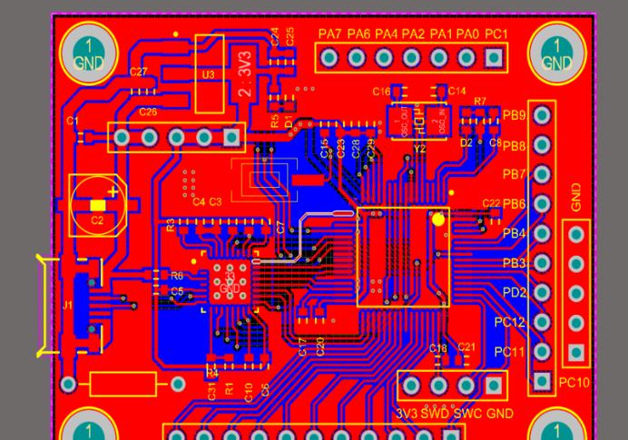 STM32F205RBT6的USB_BULK数据传输电路设计方案(pcb+上位机)