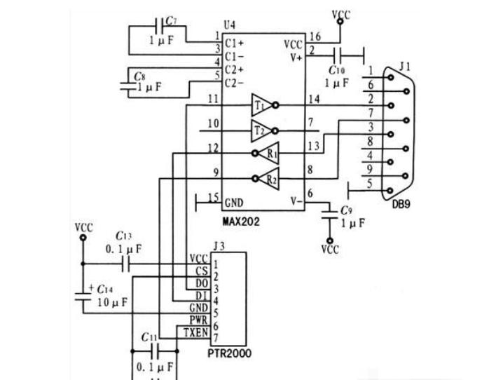 基于AT89C52单片机+PTR2000模块实现短距离无线通信电路设计方案