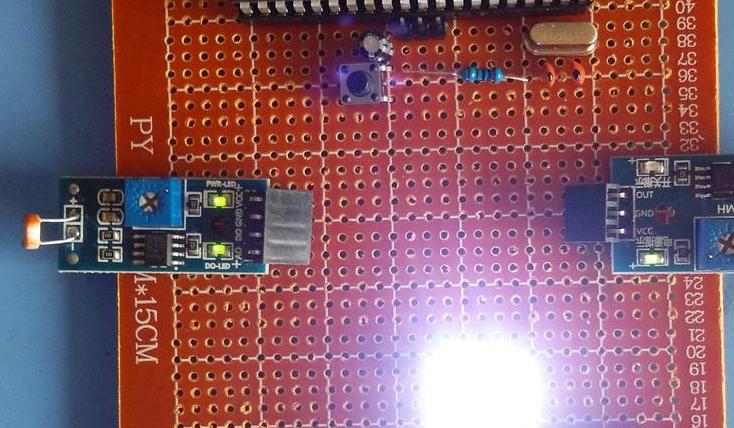 基于51单片机的声光触摸灯设计-声音-光敏-触摸-(电路图+程序源码)