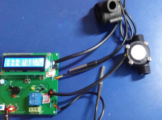 基于51/STC12C5A60S2单片机的流量温度差值报警器设计-流量-(电路图+程序源码)