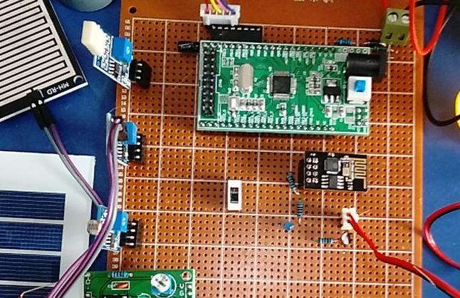 基于STM32单片机的智能晾衣架设计-雨滴-光敏-风机-湿敏-WiFi-(电路图+程序源码)