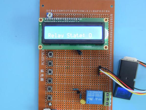 基于51单片机的智能指纹识别管理门禁密码锁系统设计-万用板-原理图+PCB图+程序源码128