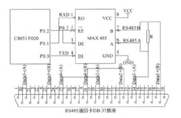 基于C8051F020单片机的RS485串行通信电路设计方案
