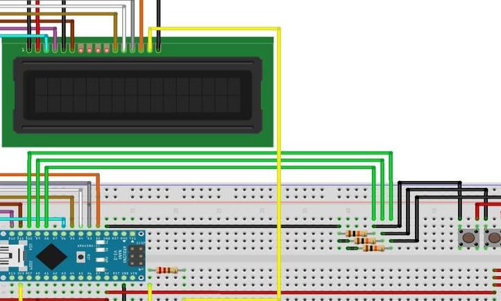 没有电位器的Arduino Nano LCD秒表