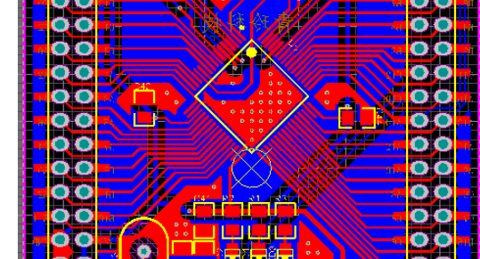 STM32F103RCT6最小系统,引出串口4,增加电源指示灯及通讯信号灯