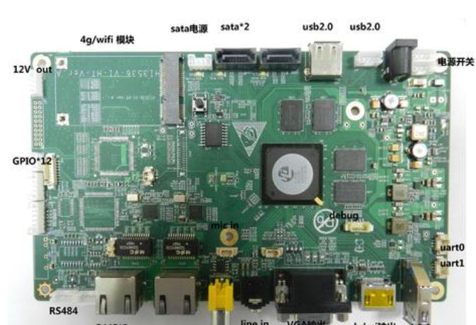 海思HI3519开发板介绍 Hi3519 V101+IMX274 4k高清输入
