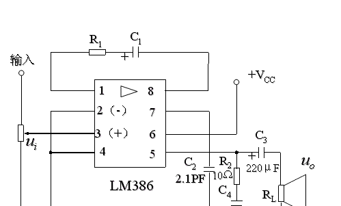 LM386内部电路图和外部接线图分享