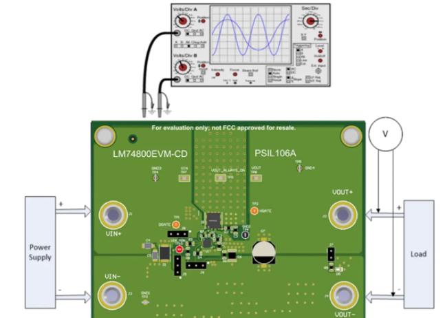 德州仪器LM74800EVM-CD评估模块的介绍、特性、应用及测试设置