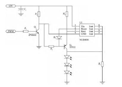NUD4001恒流驱动电路