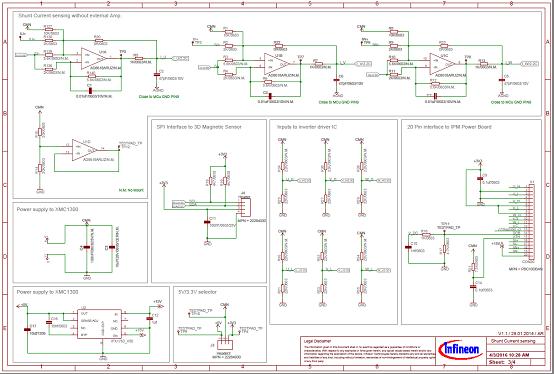 图4  评估板Eval_M1-1302电路图(2):接口到逆变器板,5V电源,PWM单线到逆变器板