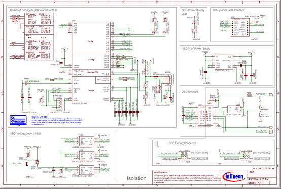 图5  评估板Eval_M1-1302电路图(3):隔离的板上调试器