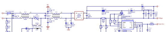 800W Platinum®服务器电源主板电路图:PFC级电路图