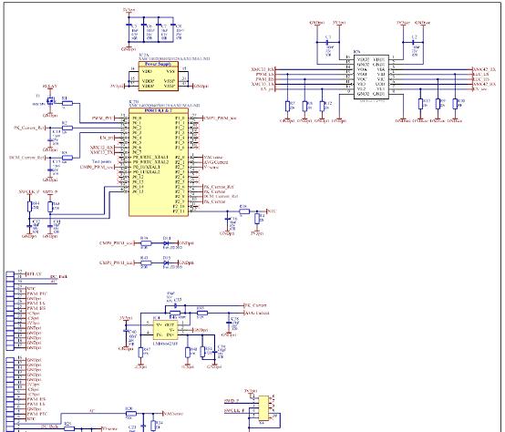800W Platinum®服务器电源控制板电路图:初级边控制器(XMC1402)