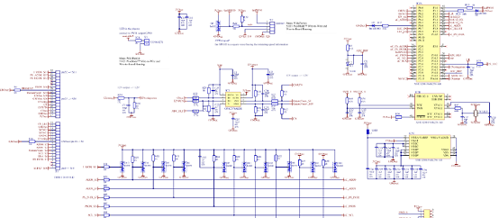 800W Platinum®服务器电源控制板电路图:次级边控制器(XMC4200)
