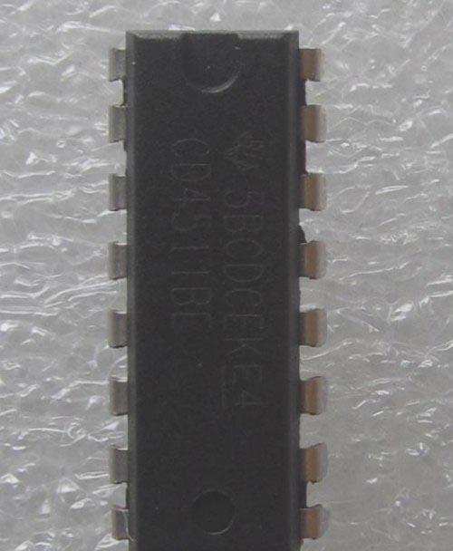 CD4511 7段驱动器IC