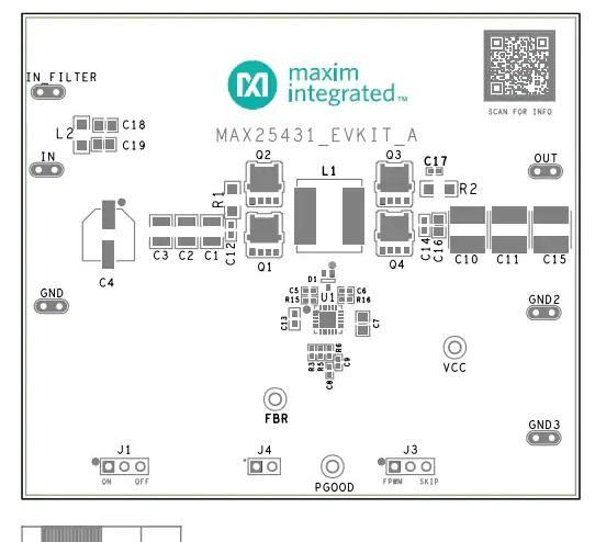 MAX25431EVKIT评估电路板接口功能图