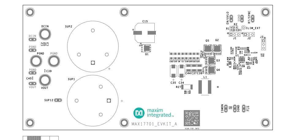 MAX17701EVKITA评估工具布局接口图