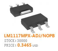 LM1117MPX-ADJ/NOPB