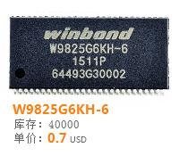 元器件交易网原装现货W9825G6KH-6